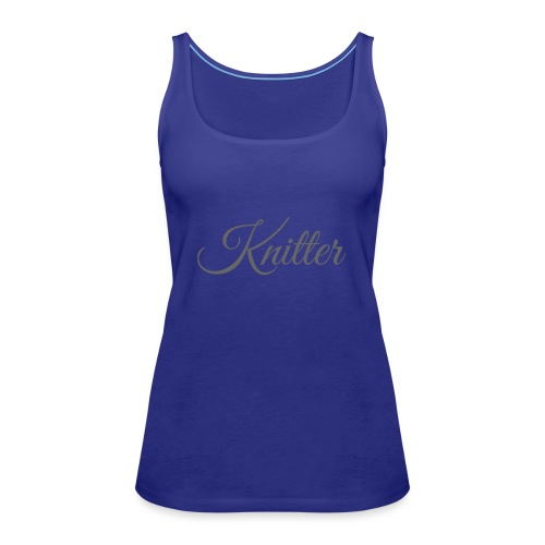 Knitter, dark gray - Women's Premium Tank Top