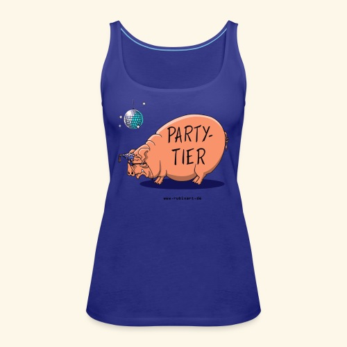 Partytier Schwein Fete Feier Party Sau - Frauen Premium Tank Top
