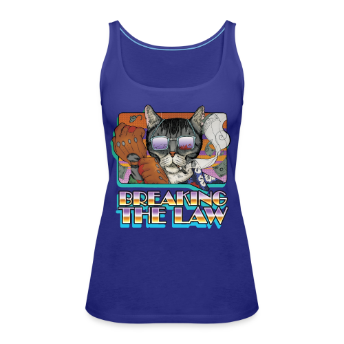 Crime Cat in Shades - Braking the Law - Tank top damski Premium