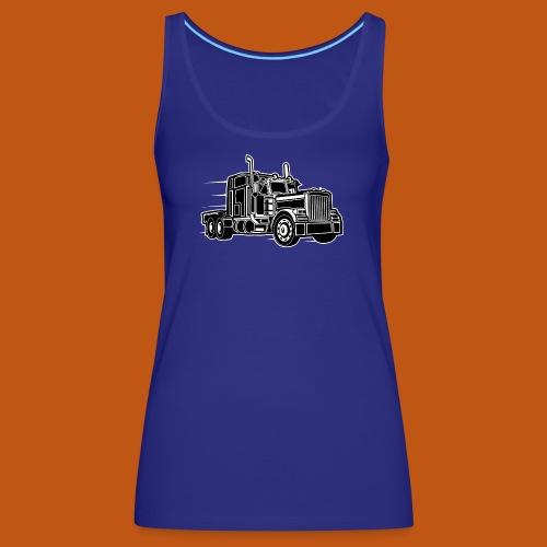 Truck / Lkw 03_schwarz weiß - Frauen Premium Tank Top