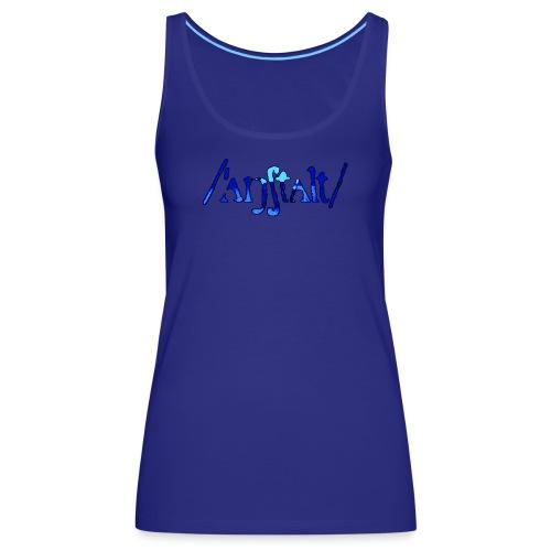 /'angstalt/ logo gerastert (blau/schwarz) - Frauen Premium Tank Top