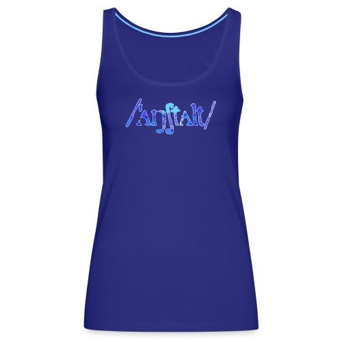 /'angstalt/ logo gerastert (blau/weiss) - Frauen Premium Tank Top