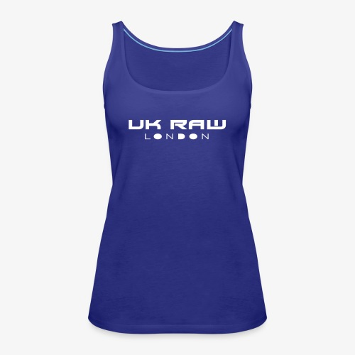 UK Raw London White Logo - Women's Premium Tank Top