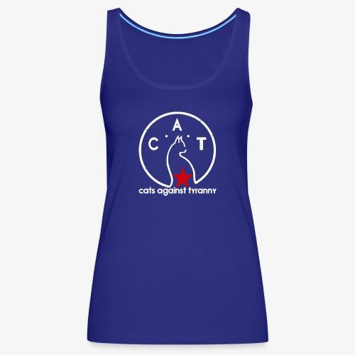 Political Protest Cat T-Shirt - Women's Premium Tank Top