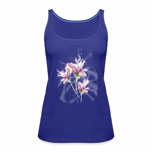 Wasserfarbe Lilien Tattoo - Frauen Premium Tank Top