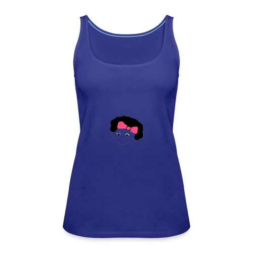 Girl with a bow in her hair - Women's Premium Tank Top
