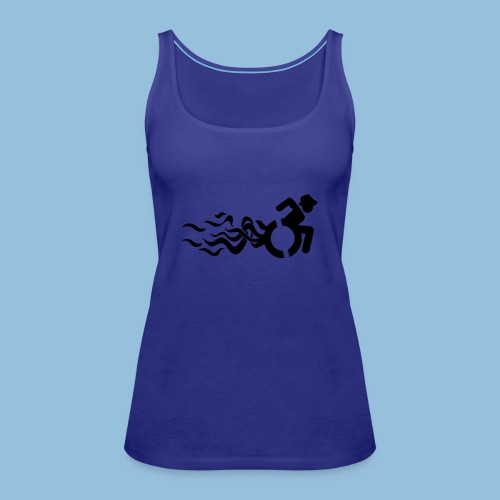 Wheelchair with flames 013 - Vrouwen Premium tank top