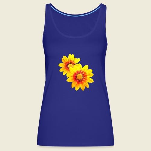 Leuchtende gelbe Blumen - Frauen Premium Tank Top
