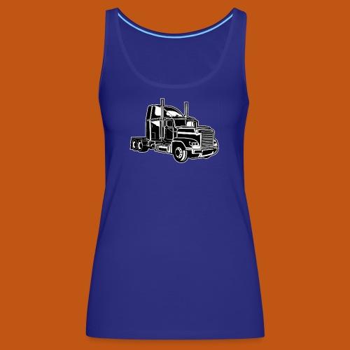 Truck / Lkw 02_schwarz weiß - Frauen Premium Tank Top