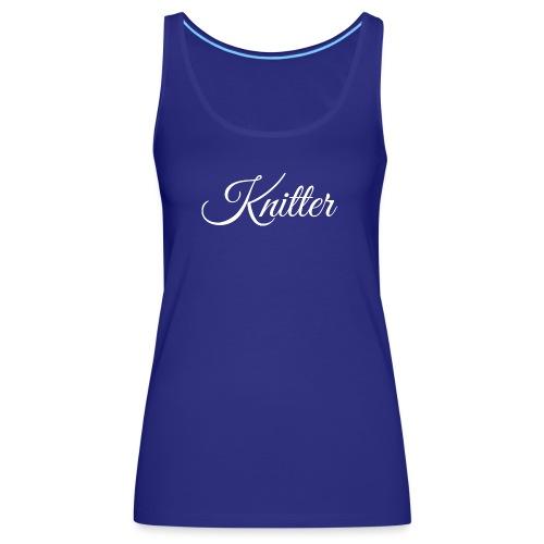 Knitter, white - Women's Premium Tank Top