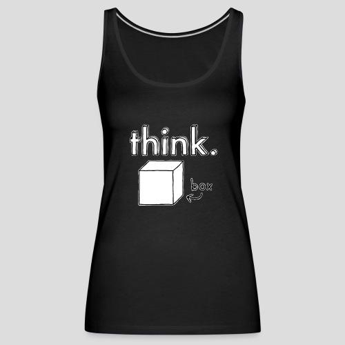 Think Outside The Box Illustration - Women's Premium Tank Top