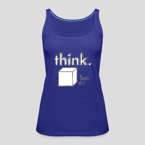 Think Outside The Box Illustration - Women's Premium Tank Top