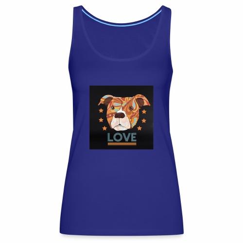 PIT BULL TERRIER HEAD LOVE DOG T-SHIRT DESIGN - Women's Premium Tank Top