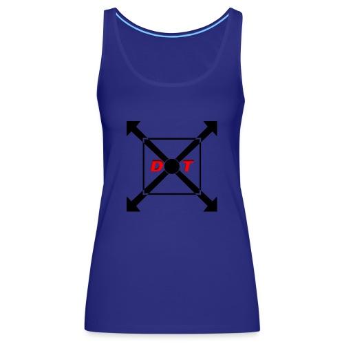 dot logo back - Women's Premium Tank Top