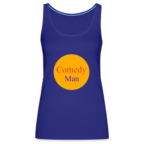 comedy man logo - Vrouwen Premium tank top