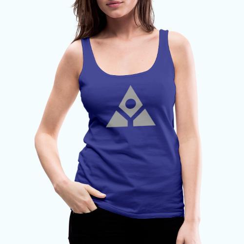 Sacred geometry gray pyramid circle in balance - Women's Premium Tank Top