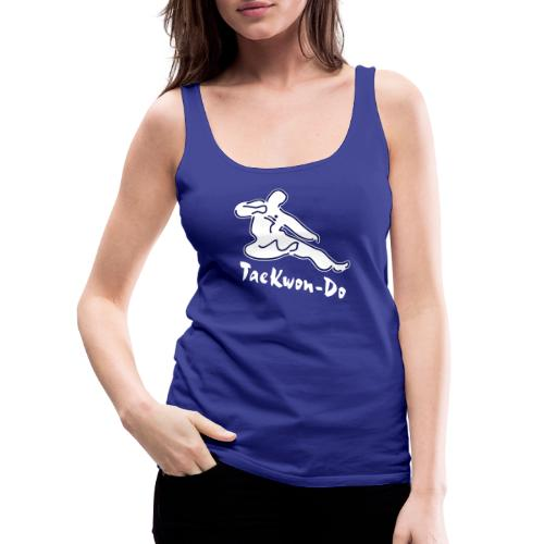 Taekwondo flying kicking man - Women's Premium Tank Top