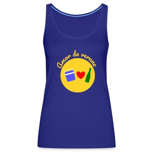Amor de verano circulo - Camiseta de tirantes premium mujer