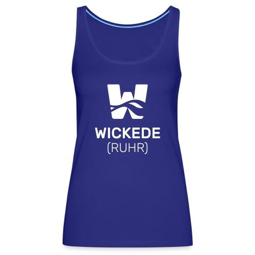 Wickede Logo weiss - Frauen Premium Tank Top