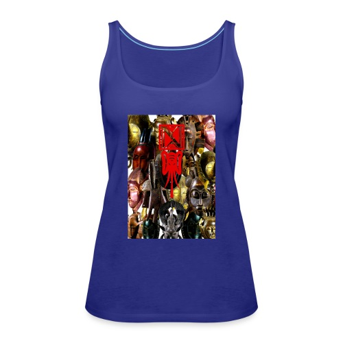 Les_masques_internet - Frauen Premium Tank Top