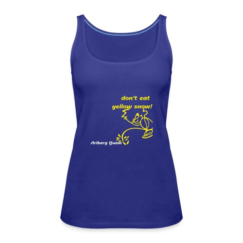 yellow snow - Frauen Premium Tank Top