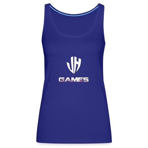 JH GAMES logo wit uitvoerig - Vrouwen Premium tank top