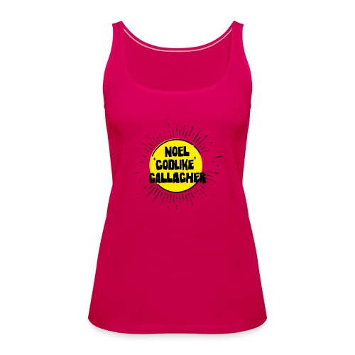 Noel Gallagher 'Godlike' - Black on Yellow - Canotta premium da donna
