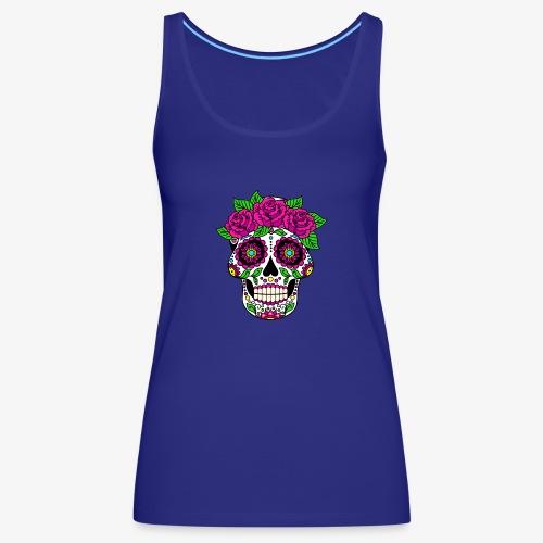 Calavera con Rosas - Camiseta de tirantes premium mujer