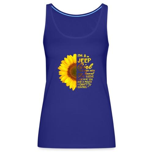 Sunflower Jeep Girl - Frauen Premium Tank Top