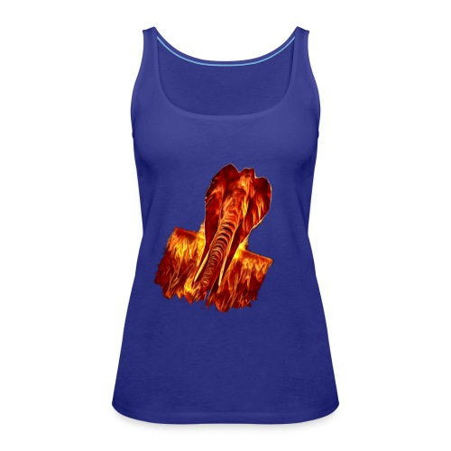 Fire elephant 🔥 🐘 - Women's Premium Tank Top