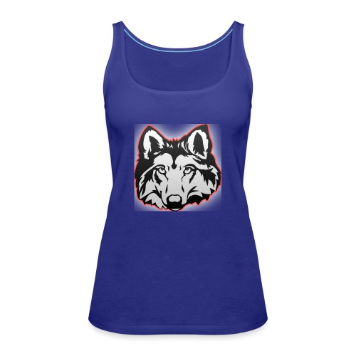 Wolfie (Red) - Women's Premium Tank Top
