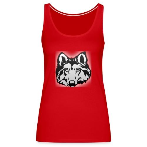 Wolfie (Red) - Women's Premium Tank Top