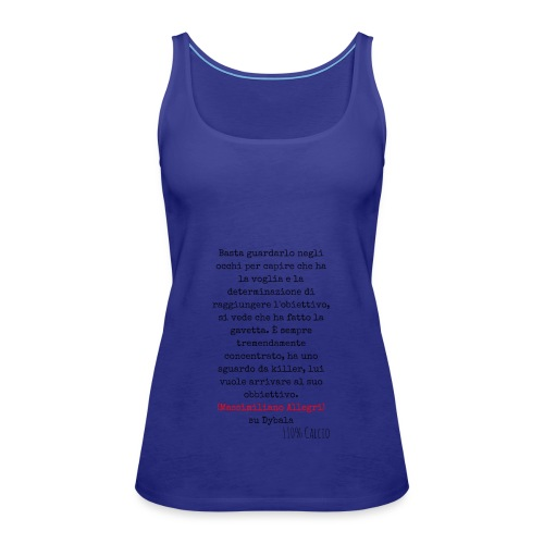 maglia110 dybala - Canotta premium da donna