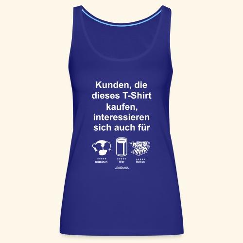 Karneval T Shirt Düsseldorf   Bier, Bützchen - Frauen Premium Tank Top