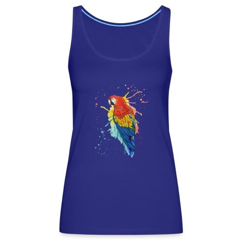 Parrot Watercolors Nadia Luongo - Canotta premium da donna