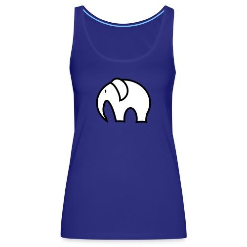 olifant pictogram - Vrouwen Premium tank top