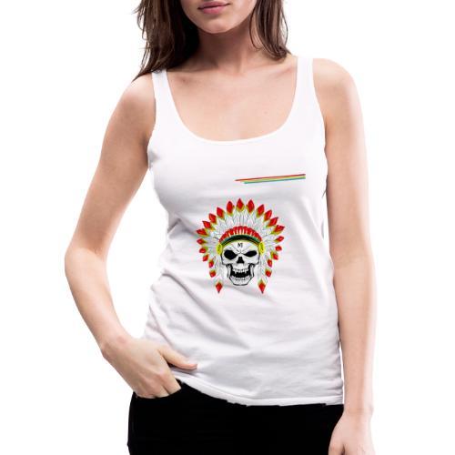 calavera o craneo con penacho de plumas vampiresco - Camiseta de tirantes premium mujer