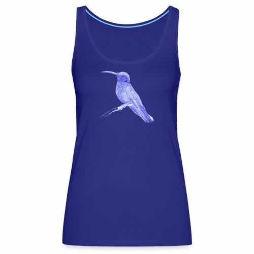 Hummingbird with ballpoint pen - Women's Premium Tank Top