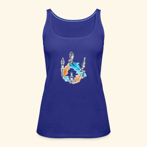 Yoga Poses - Women's Premium Tank Top
