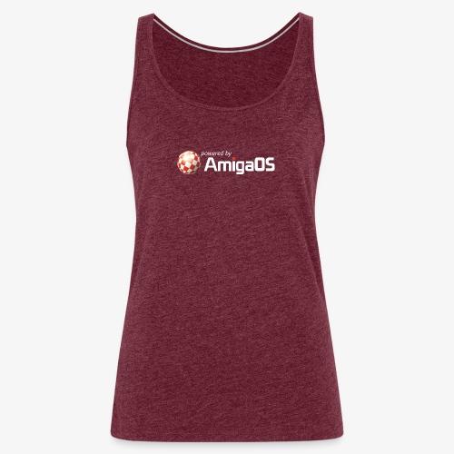 PoweredByAmigaOS white - Women's Premium Tank Top
