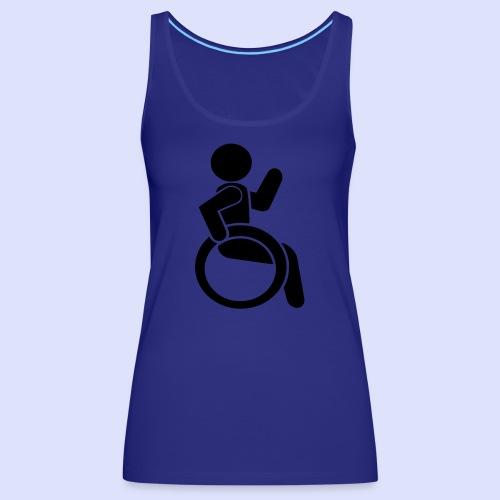 Zwaaiende rolstoel gebruiker 001 - Vrouwen Premium tank top