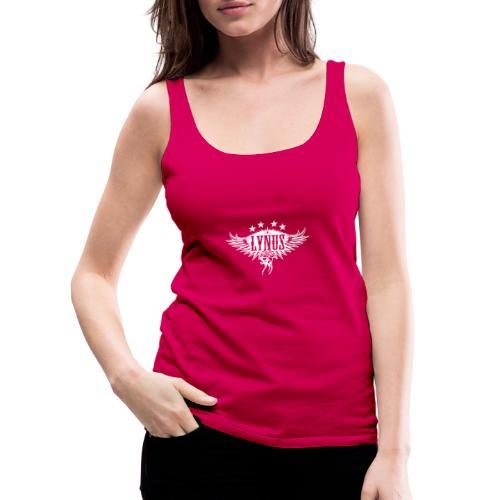Small Lynus logo White - Women's Premium Tank Top