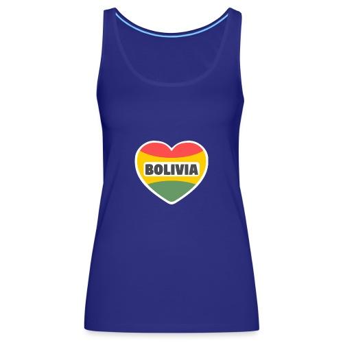 Bolivia en mi corazón tricolor - Camiseta de tirantes premium mujer