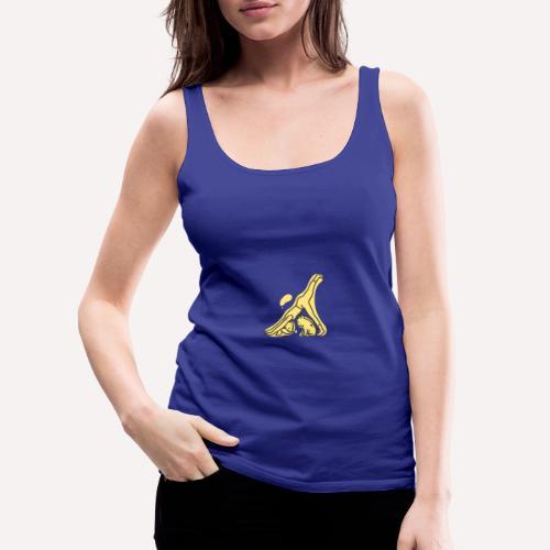 Yoga Pose Downward Facing Dog T-shirt Print - Women's Premium Tank Top