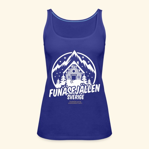 Funäsfjällen Sverige Ski resort T Shirt Design - Frauen Premium Tank Top
