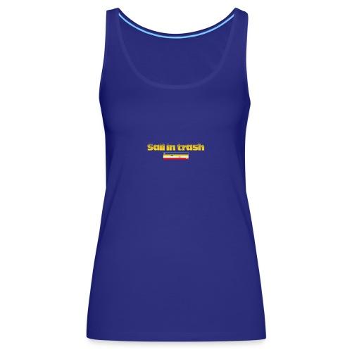 SAIL IN TRASH LOGO AMARILLO - Camiseta de tirantes premium mujer