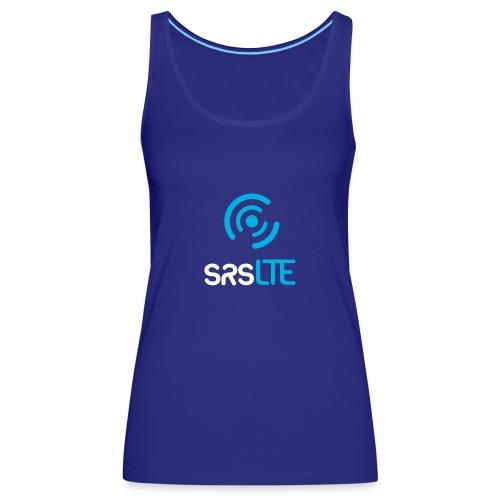 srsLTE vertical bluewhite - Women's Premium Tank Top