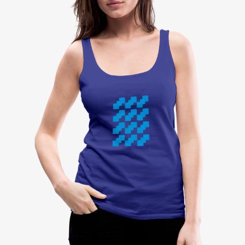 Fluid logo - Canotta premium da donna