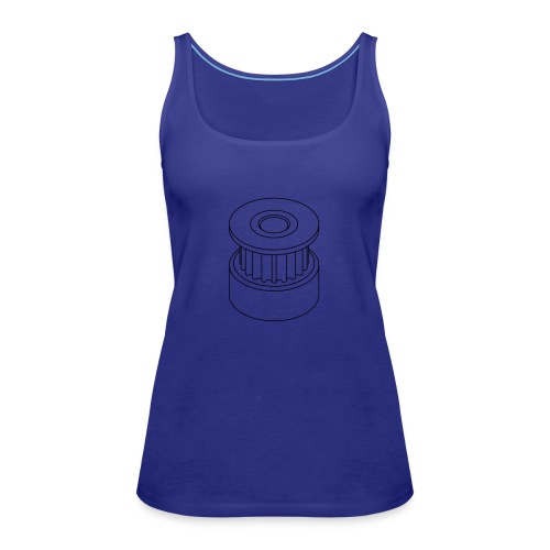 20T GT2 Pulley (no text). - Women's Premium Tank Top