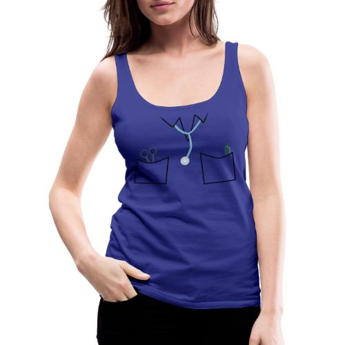 Scrubs tee for doctor and nurse costume - Women's Premium Tank Top